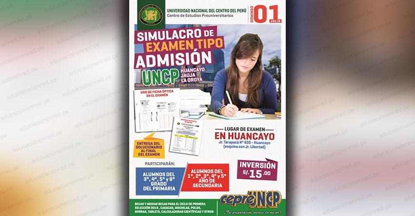 Resultados Simulacro Examen tipo Admisión UNCP 2018 (1 Julio) Alumnos Primaria y Secundaria - Huancayo - Jauja - La Oroya - Universidad Nacional del Centro del Perú - www.uncp.edu.pe