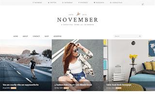 november-minimal-blogger-template 2017