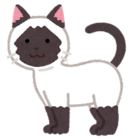 猫の模様のイラスト(ポインテッド)