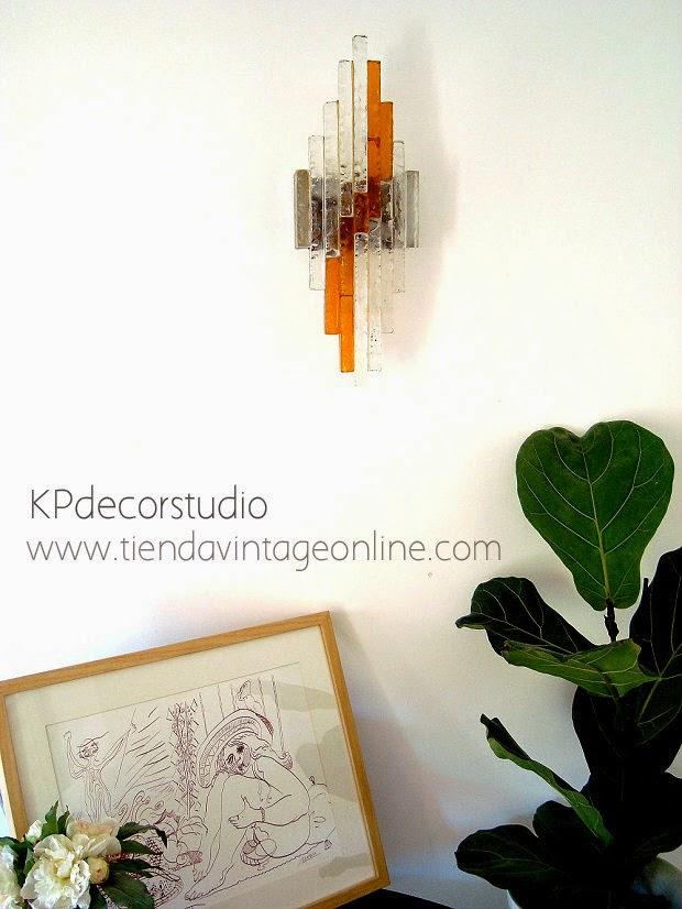 tienda decoración lujo. lámparas de calidad. apliques pared diseño, firma, autor, italia años 70