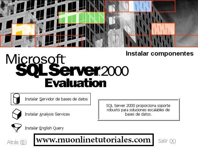 Seleccionando opción servidor de datos