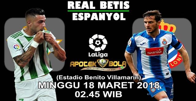 Prediksi Real Betis vs Espanyol 18 Maret 2018