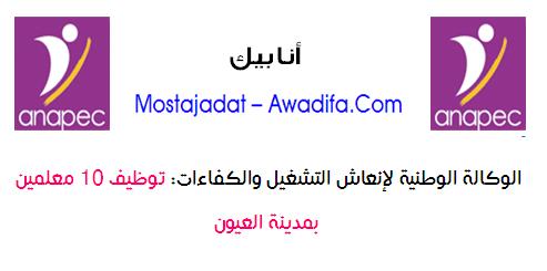 الوكالة الوطنية لإنعاش التشغيل والكفاءات: توظيف 10 معلمين بمدينة العيون