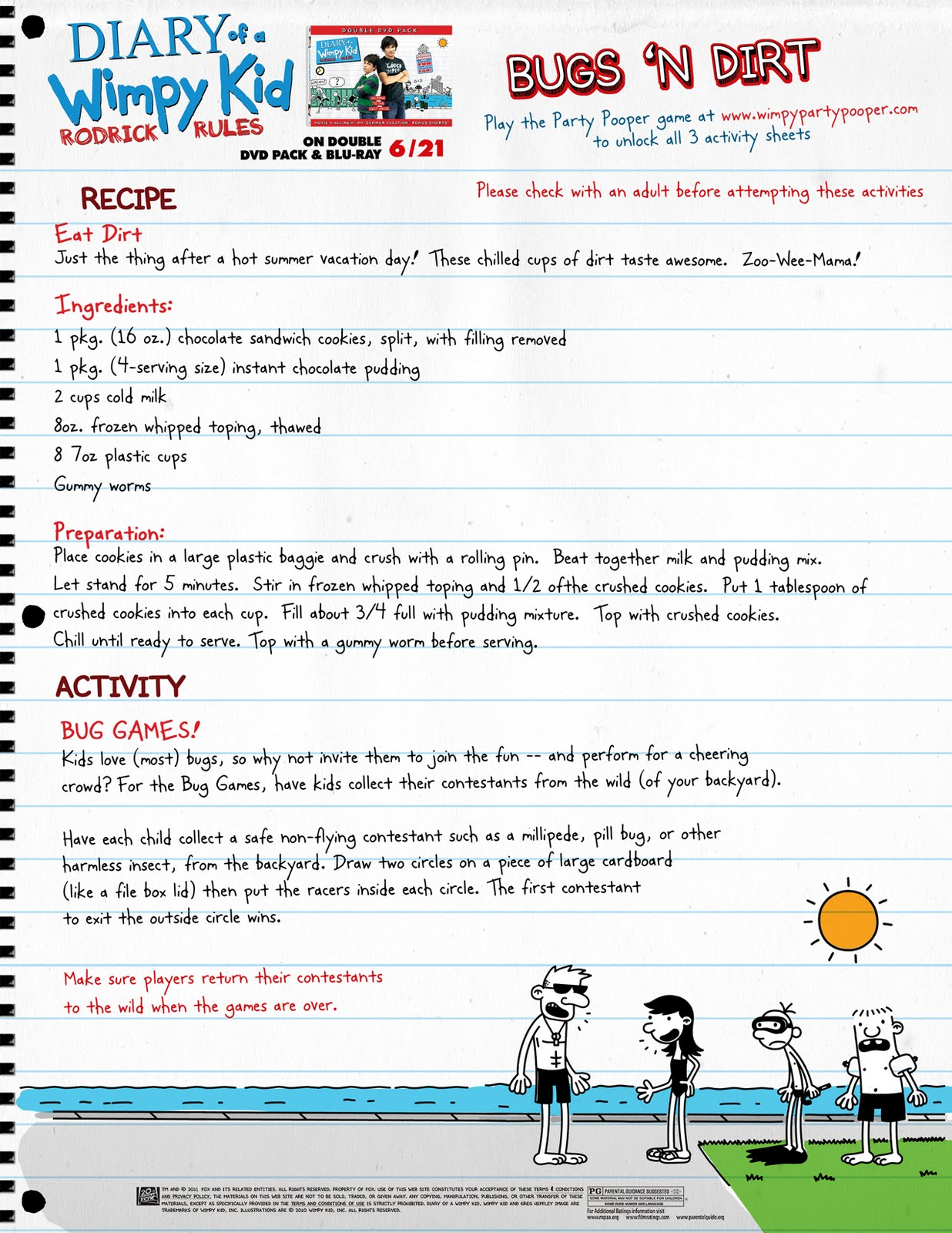 Heck Of A Bunch Get Ready For Diary Of A Wimpy Kid Rodrick Rules With These Activity Sheets