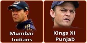 मुम्बई इन्डियन्स बनाम किंग्स एलेवन पंजाब 29 अप्रैल 2013 को है।