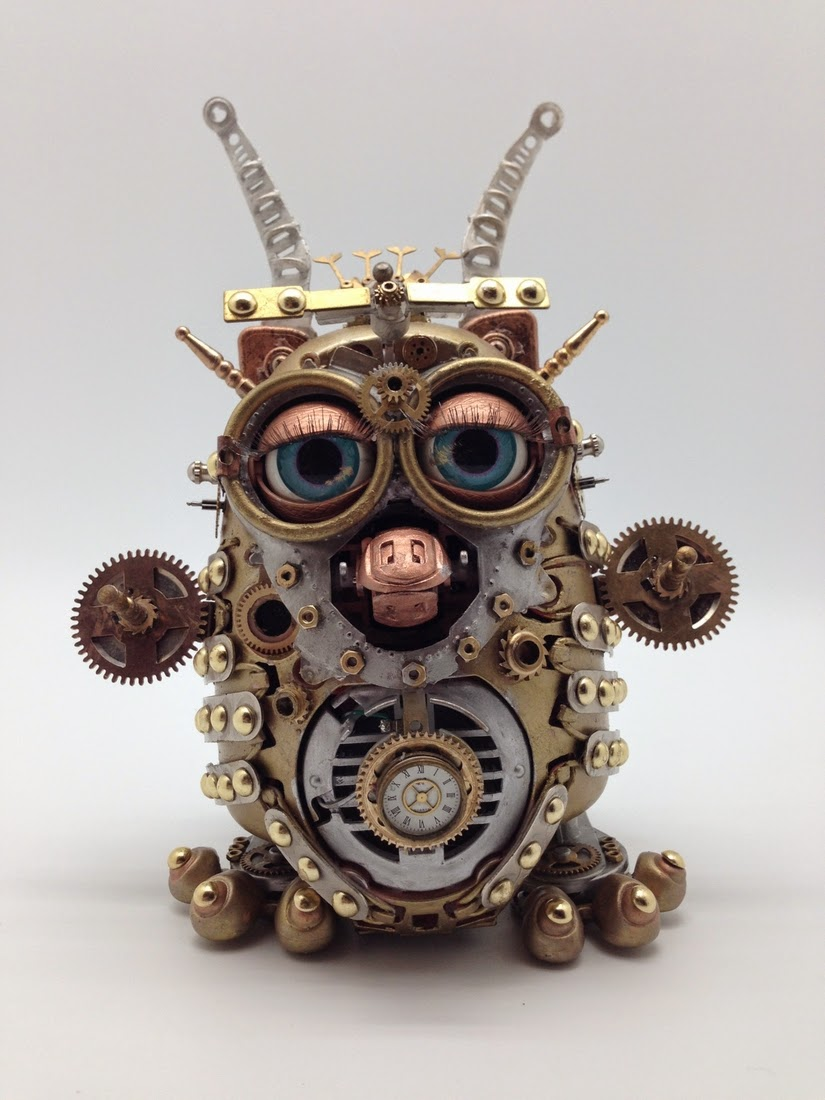 01-Furby-Van Halen Co-Steampunk Sculptures Wonderland-www-designstack-co