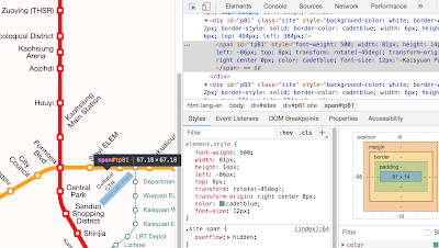 使用 HTML5 和 Javascript 來繪製路線圖