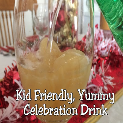 Let your kids in on the celebration with this kid friendly Celebration drink perfect for any holiday or occasion.  It's quick, easy, and really yummy!