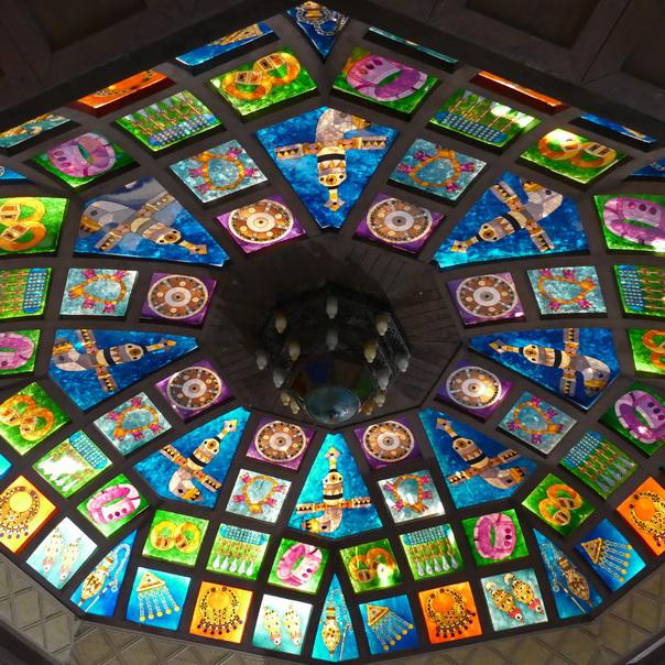 Oman, Souk, Mutrah, Matrah, Muscat, Maskat, Decke, Glas, Fenster
