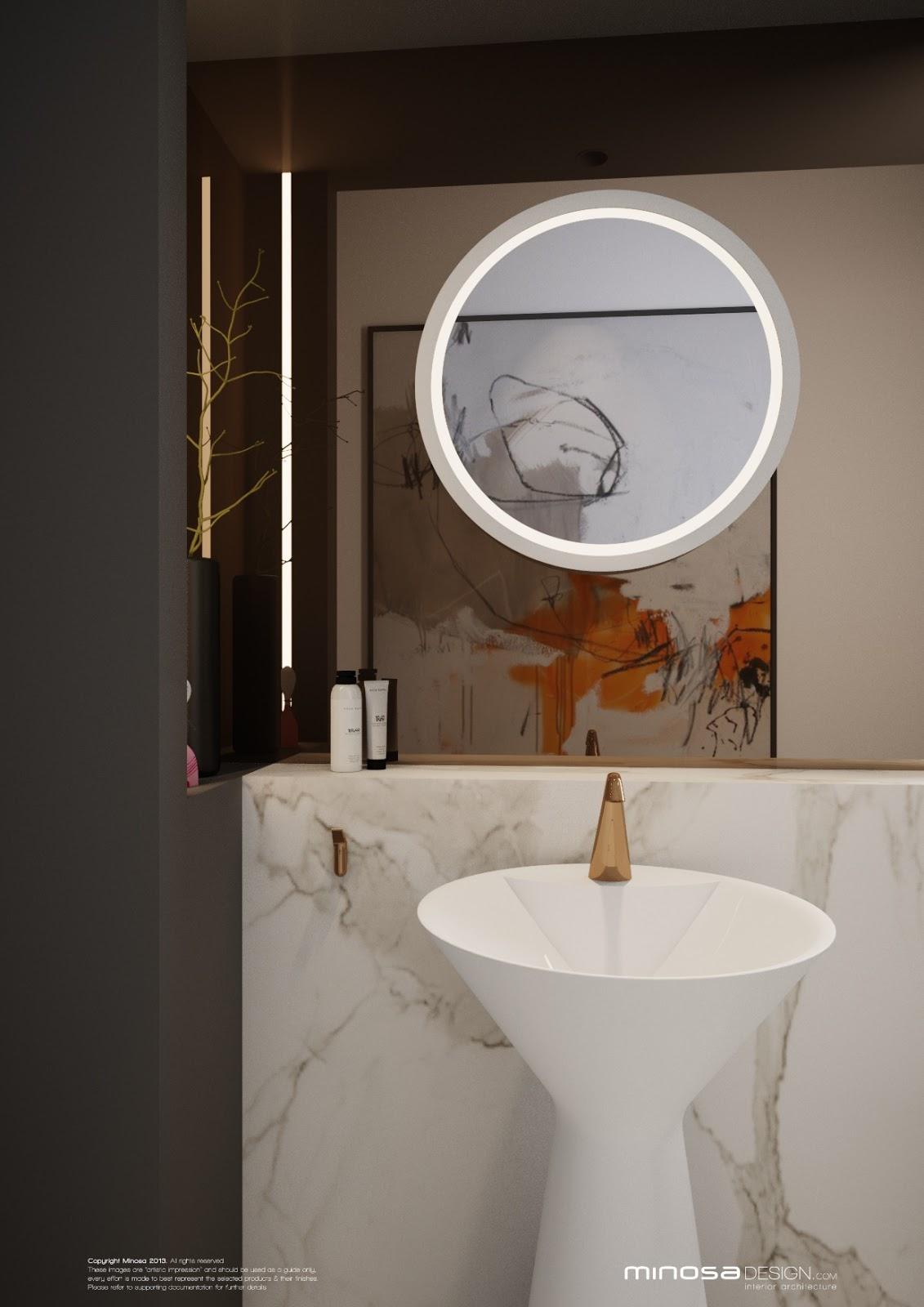 Minosa A Real Showstopper Modern Bathroom: Minosa: WOW Powder Room