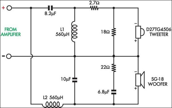 piezo tweeter wiring diagram