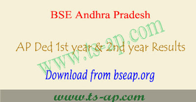 AP D.ed results 2021 for 1st year & 2nd year @bseap portal