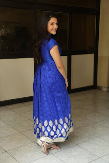 Mehreen Pictures in Blue Dress at Krishna Gadi Veera Prema Gaadha Interview | ~ Bollywood and South Indian Cinema Actress Exclusive Picture Galleries