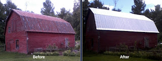 Steel Building Before and After