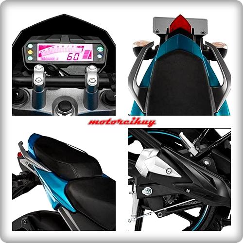 Eksterior Yamaha Byson FI 2015 - Digital Speedometer - Handle Bar Alumunium - Jok Terpisah ala Motor Balap - Desain Knalpot Dengan Cover Pelindung Modern