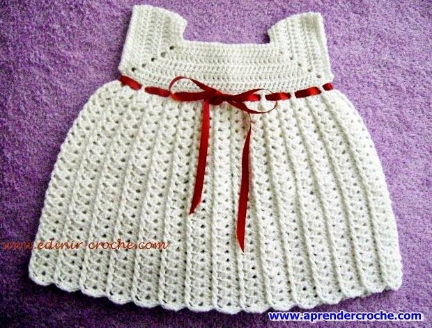 edinir ensina vestidinho de croche