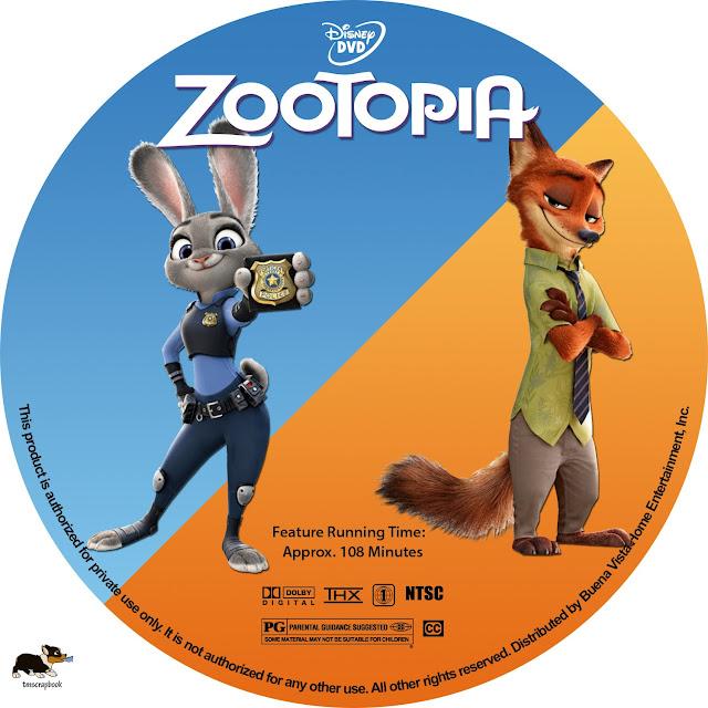 Label DVD Zootopia