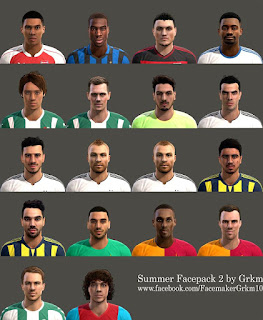 Facepack Summer v2  2016 PES 2013