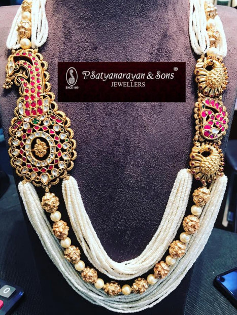 Pearls Mughal Set by Satyanarayana Jewellers