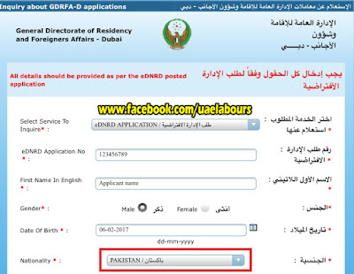 Dubai visa status