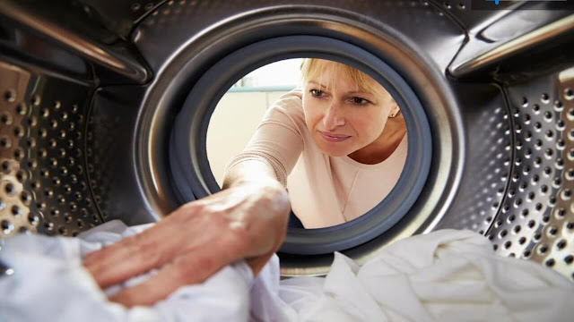 washing machine woman
