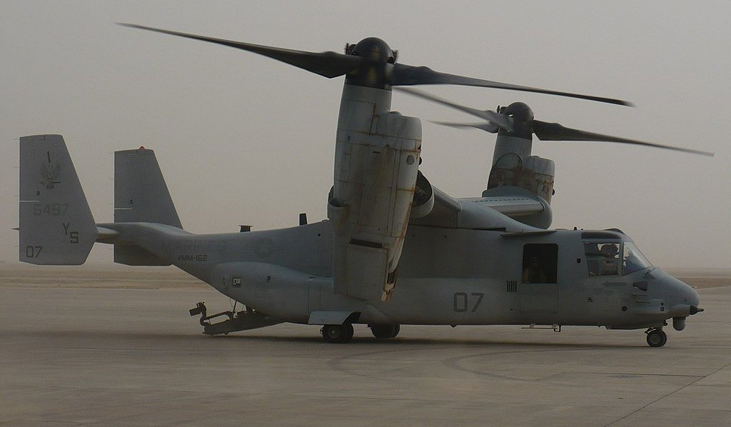 A V-22 Osprey just crashed in Syria