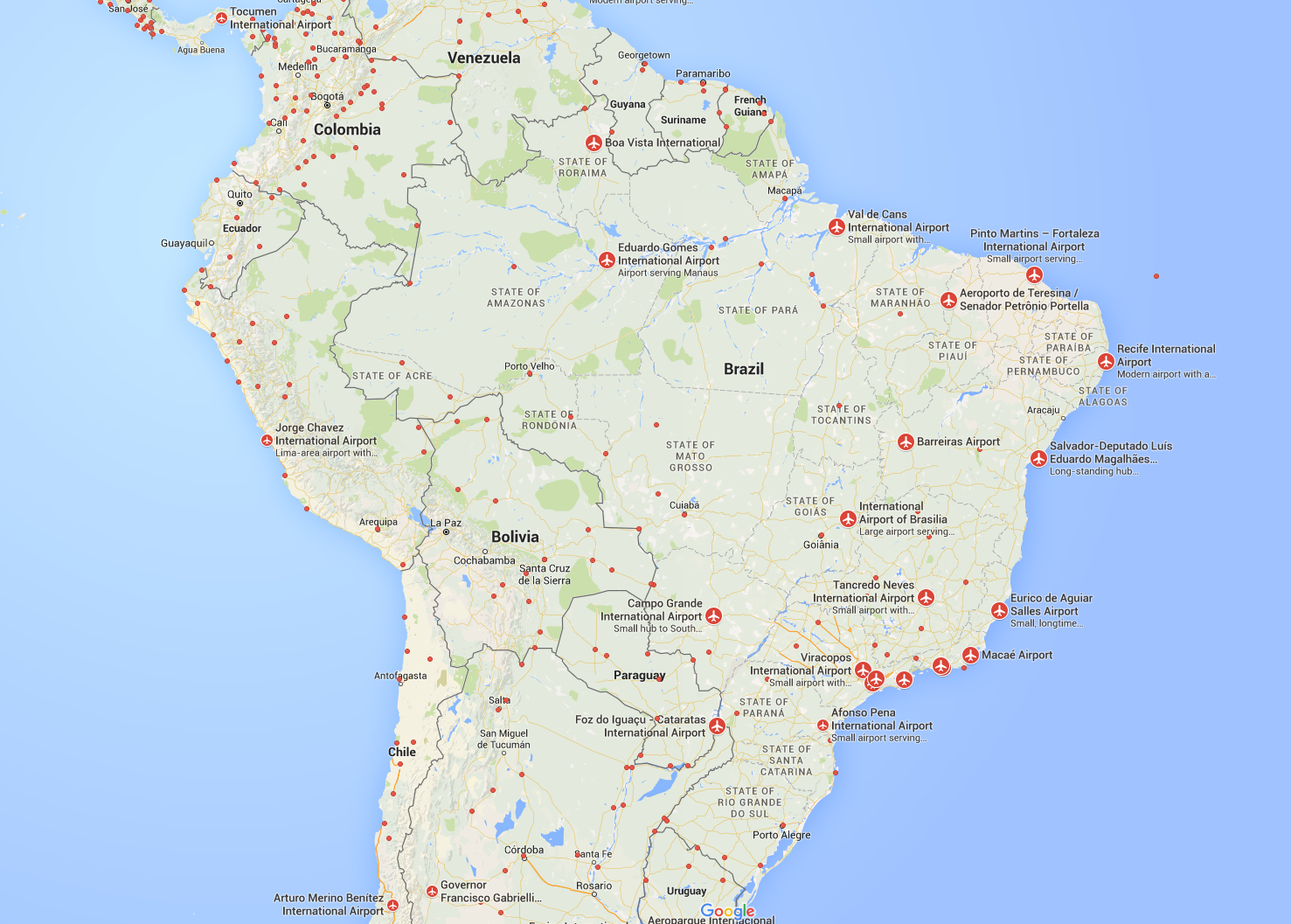 FlightRadar24 Brazil Airports Plane Flight Tracker