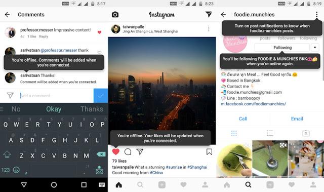 Wow, Instagram Kini Bisa Diakses Tanpa Internet!