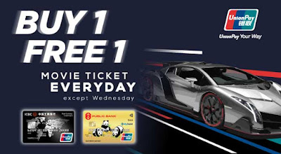 GSC Buy 1 Free 1 Movie Ticket Union Pay Card Member Reward Promo