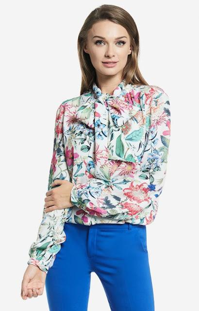 motyw kwiatów wólczanka koszula