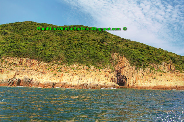Island with cave, Sai Kun Country Park, Hong Kong