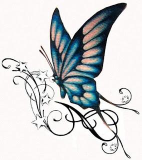 эскиз тату бабочки