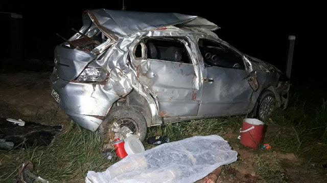 Acidente brutal deixa um morto e três feridos em grave acidente na BR 364