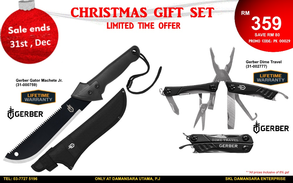 Christmas Promotion!! Gerber Gator Jr & Gerber Dime Travel Tools @ RM 359