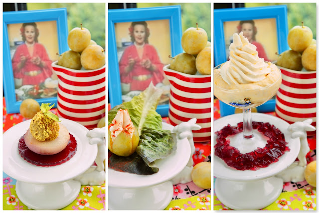 Fanny Cradock Trio of Greengages