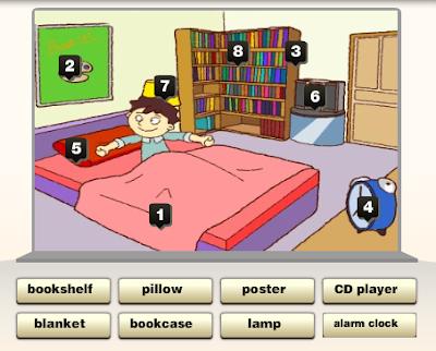 La habitación.-Inglés fácil para primaria