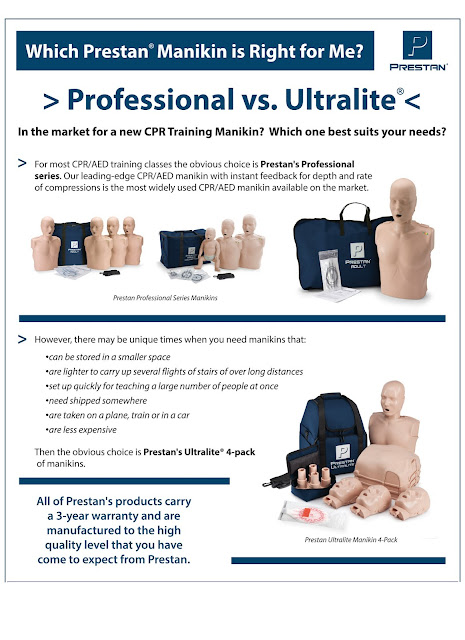Prestan CPR training manikins at MCR Medical Supply