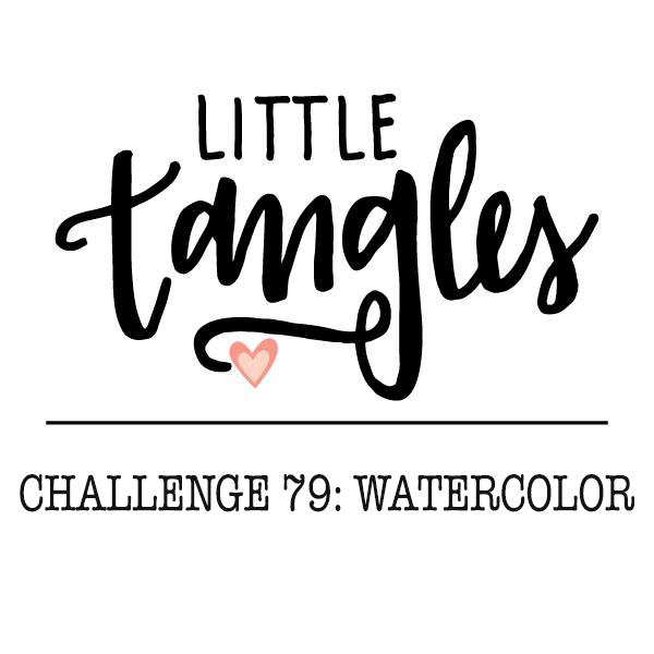 Little Tangles Challenge #79: Watercolor