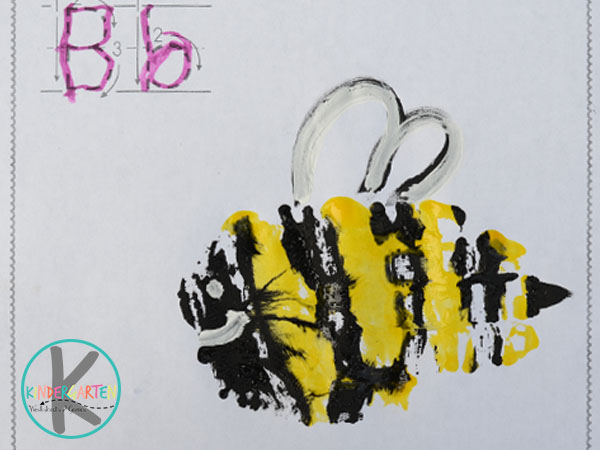 add wings to the letter b bee alphabet craft