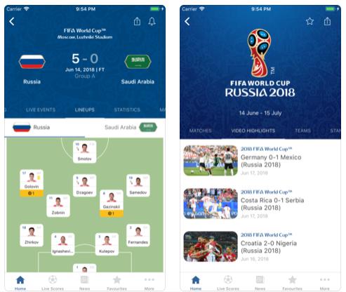 Las mejores 5 aplicaciones para seguir el Mundial de Fútbol Rusia 2018