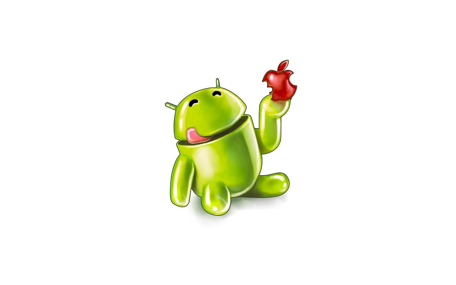 Free-Art-Tech: Android vs Apple wallpaper