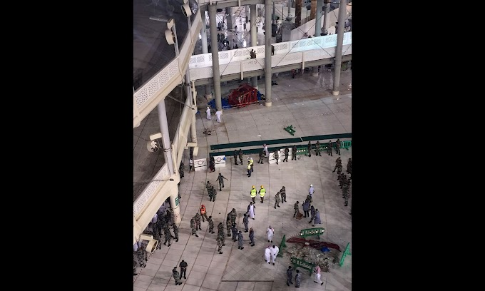 Exclusive Footage Of Crane Collapse Moment At Grand Mosque (Kaba) in Makka Mukarama