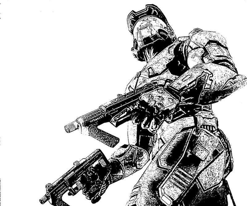 halo 4 gun coloring pages - photo#39