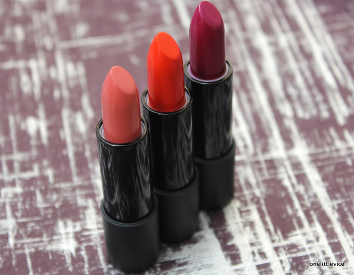 one little vice beauty blog: glo and ray shimmer lipsticks in marigold honey and asteria review