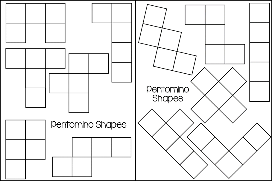 Insane image intended for pentominoes printable
