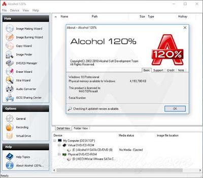 Screenshot Alcohol 120% 2.0.3 Build 10121 Full Version