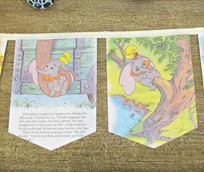 image dumbo bunting banner garland domum vindemia etsy handmade upcycled elephant circus