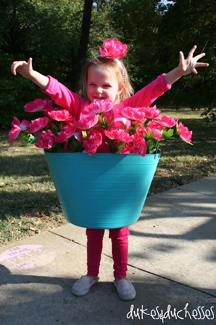 flower post Halloween costume