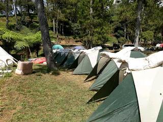 rental tenda camping di basecamp mawar