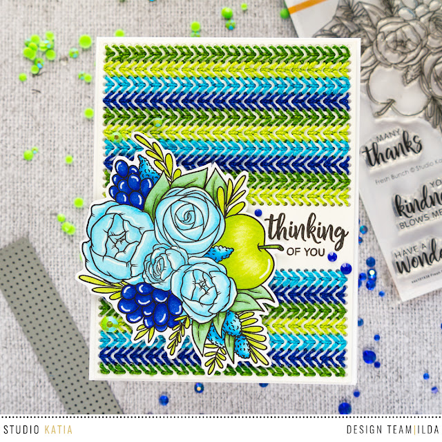 Fresh Bunch | Thinking Of You Stitched Card by ilovedoingallthingscrafty.com